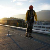 ALTILIGNE - Ligne de vie horizontale sur toiture Bitume