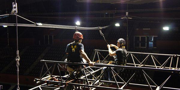 ALTIRAIL élingué - Travail en suspension - Palais des sports Grenoble