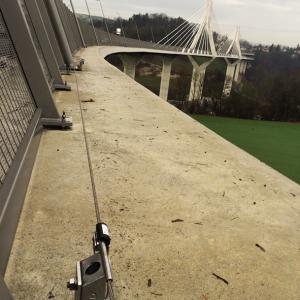 Ligne de vie horizontale ALTILIGNE VERTIC sur Pont de La Poya en Suisse