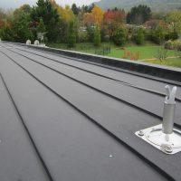 Ligne de vie horizontale BATILIGNE sur toiture zinc